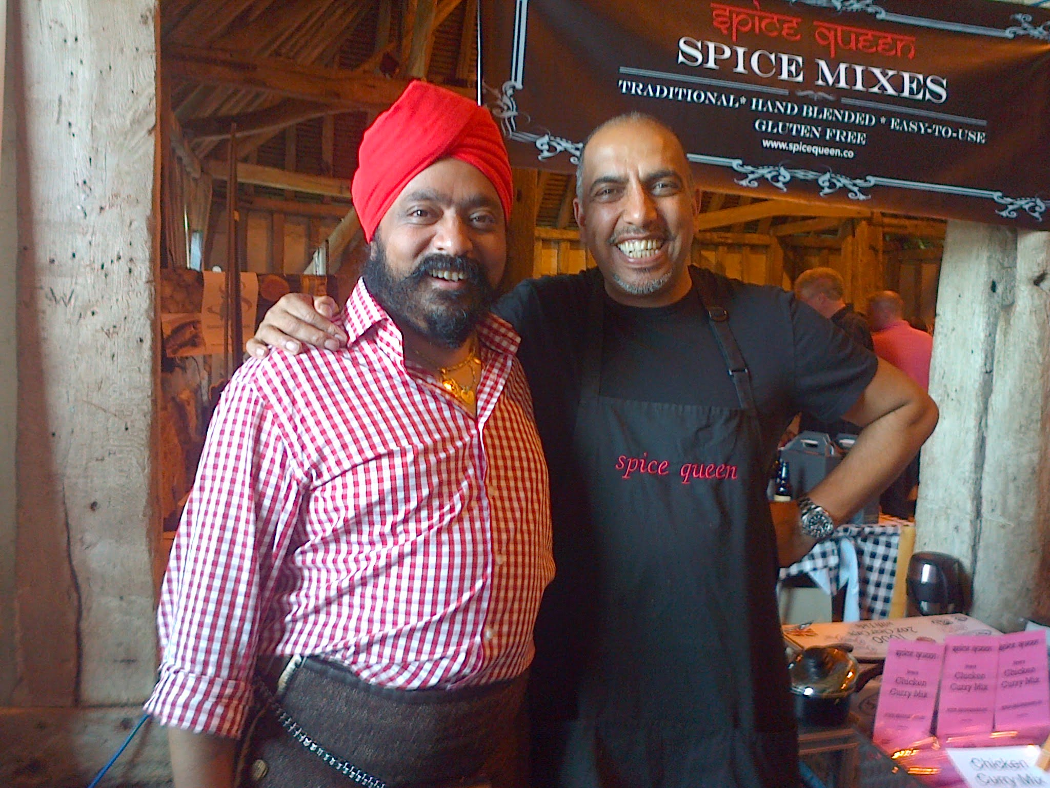Spice King with Spice Queen, Essex Food Festival 2014